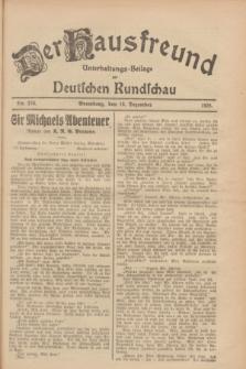 Der Hausfreund : Unterhaltungs-Beilage zur Deutschen Rundschau. 1928, Nr. 276 (18 Dezember)