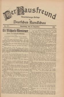 Der Hausfreund : Unterhaltungs-Beilage zur Deutschen Rundschau. 1928, Nr. 277 (19 Dezember)
