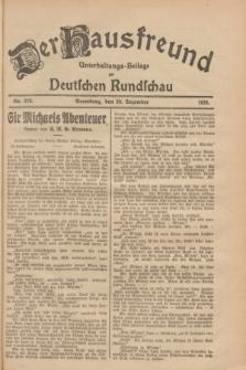 Der Hausfreund : Unterhaltungs-Beilage zur Deutschen Rundschau. 1928, Nr. 278 (20 Dezember)