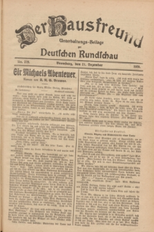 Der Hausfreund : Unterhaltungs-Beilage zur Deutschen Rundschau. 1928, Nr. 279 (21 Dezember)