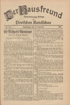 Der Hausfreund : Unterhaltungs-Beilage zur Deutschen Rundschau. 1928, Nr. 280 (22 Dezember)