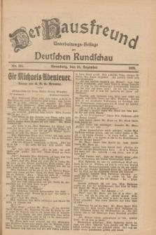 Der Hausfreund : Unterhaltungs-Beilage zur Deutschen Rundschau. 1928, Nr. 281 (23 Dezember)