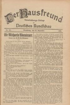Der Hausfreund : Unterhaltungs-Beilage zur Deutschen Rundschau. 1928, Nr. 282 (25 Dezember)