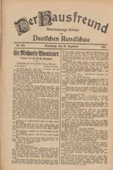 Der Hausfreund : Unterhaltungs-Beilage zur Deutschen Rundschau. 1928, Nr. 283 (28 Dezember)