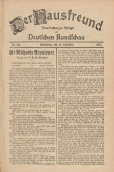 Der Hausfreund : Unterhaltungs-Beilage zur Deutschen Rundschau. 1928, Nr. 284 (29 Dezember)