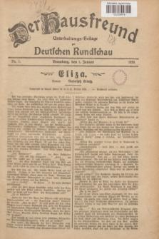 Der Hausfreund : Unterhaltungs-Beilage zur Deutschen Rundschau. 1929, Nr. 1 (1 Januar)