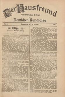 Der Hausfreund : Unterhaltungs-Beilage zur Deutschen Rundschau. 1929, Nr. 2 (3 Januar)