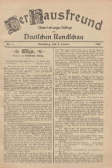 Der Hausfreund : Unterhaltungs-Beilage zur Deutschen Rundschau. 1929, Nr. 7 (9 Januar)