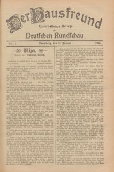 Der Hausfreund : Unterhaltungs-Beilage zur Deutschen Rundschau. 1929, Nr. 11 (13 Januar)