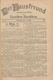 Der Hausfreund : Unterhaltungs-Beilage zur Deutschen Rundschau. 1929, Nr. 12 (15 Januar)