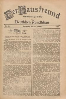 Der Hausfreund : Unterhaltungs-Beilage zur Deutschen Rundschau. 1929, Nr. 19 (23 Januar)