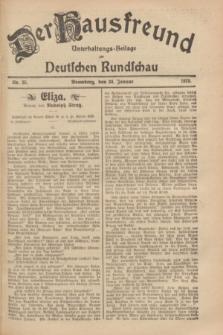 Der Hausfreund : Unterhaltungs-Beilage zur Deutschen Rundschau. 1929, Nr. 25 (30 Januar)