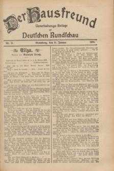 Der Hausfreund : Unterhaltungs-Beilage zur Deutschen Rundschau. 1929, Nr. 26 (31 Januar)