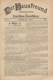 Der Hausfreund : Unterhaltungs-Beilage zur Deutschen Rundschau. 1929, Nr. 31 (7 Februar)