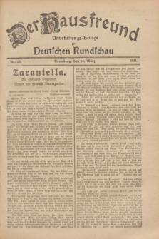 Der Hausfreund : Unterhaltungs-Beilage zur Deutschen Rundschau. 1929, Nr. 58 (10 März)