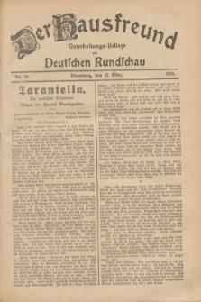 Der Hausfreund : Unterhaltungs-Beilage zur Deutschen Rundschau. 1929, Nr. 59 (12 März)