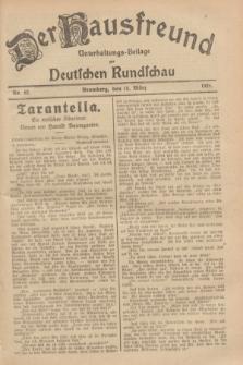 Der Hausfreund : Unterhaltungs-Beilage zur Deutschen Rundschau. 1929, Nr. 62 (15 März)