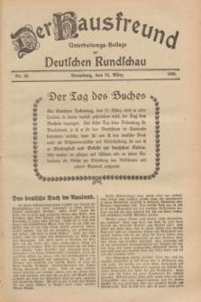 Der Hausfreund : Unterhaltungs-Beilage zur Deutschen Rundschau. 1929, Nr. 68 (22 März)