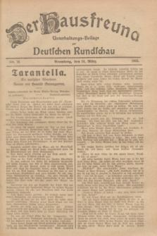 Der Hausfreund : Unterhaltungs-Beilage zur Deutschen Rundschau. 1929, Nr. 70 (24 März)
