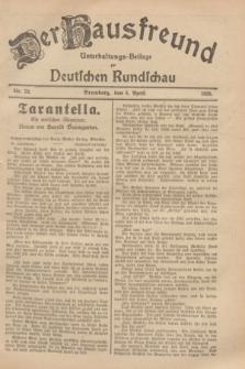 Der Hausfreund : Unterhaltungs-Beilage zur Deutschen Rundschau. 1929, Nr. 79 (6 April)
