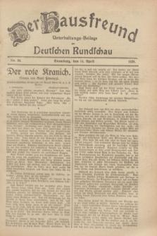 Der Hausfreund : Unterhaltungs-Beilage zur Deutschen Rundschau. 1929, Nr. 86 (14 April)