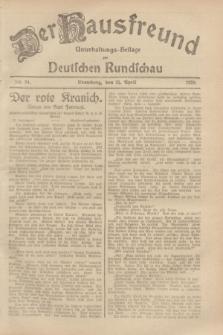 Der Hausfreund : Unterhaltungs-Beilage zur Deutschen Rundschau. 1929, Nr. 94 (25 April)