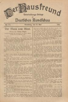 Der Hausfreund : Unterhaltungs-Beilage zur Deutschen Rundschau. 1929, Nr. 112 (18 Mai)