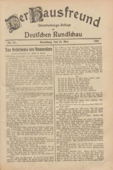 Der Hausfreund : Unterhaltungs-Beilage zur Deutschen Rundschau. 1929, Nr. 121 (30 Mai)