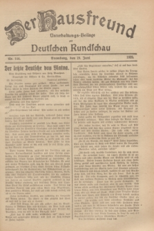 Der Hausfreund : Unterhaltungs-Beilage zur Deutschen Rundschau. 1929, Nr. 146 (29 Juni)