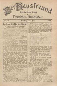 Der Hausfreund : Unterhaltungs-Beilage zur Deutschen Rundschau. 1929, Nr. 149 (4 Juli)