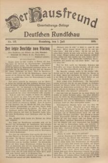 Der Hausfreund : Unterhaltungs-Beilage zur Deutschen Rundschau. 1929, Nr. 152 (7 Juli)