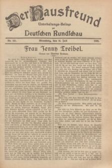 Der Hausfreund : Unterhaltungs-Beilage zur Deutschen Rundschau. 1929, Nr. 161 (18 Juli)