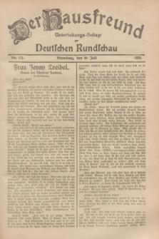 Der Hausfreund : Unterhaltungs-Beilage zur Deutschen Rundschau. 1929, Nr. 171 (30 Juli)