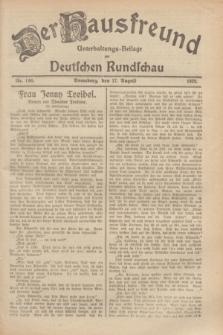 Der Hausfreund : Unterhaltungs-Beilage zur Deutschen Rundschau. 1929, Nr. 186 (17 August)