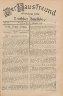 Der Hausfreund : Unterhaltungs-Beilage zur Deutschen Rundschau. 1929, Nr. 206 (11 September)