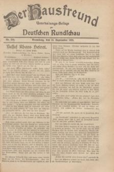 Der Hausfreund : Unterhaltungs-Beilage zur Deutschen Rundschau. 1929, Nr. 208 (13 September)