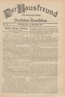 Der Hausfreund : Unterhaltungs-Beilage zur Deutschen Rundschau. 1929, Nr. 213 (19 September)
