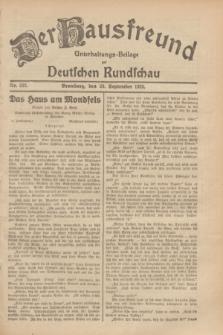 Der Hausfreund : Unterhaltungs-Beilage zur Deutschen Rundschau. 1929, Nr. 222 (29 September)