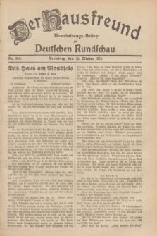 Der Hausfreund : Unterhaltungs-Beilage zur Deutschen Rundschau. 1929, Nr. 234 (13 Oktober)