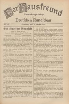 Der Hausfreund : Unterhaltungs-Beilage zur Deutschen Rundschau. 1929, Nr. 237 (17 Oktober)