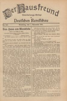 Der Hausfreund : Unterhaltungs-Beilage zur Deutschen Rundschau. 1929, Nr. 248 (1 November)