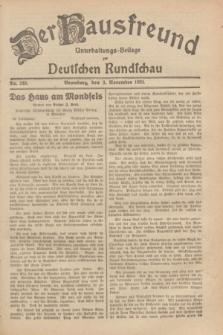 Der Hausfreund : Unterhaltungs-Beilage zur Deutschen Rundschau. 1929, Nr. 249 (3 November)