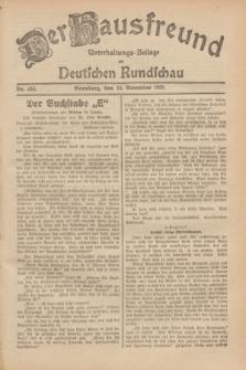 Der Hausfreund : Unterhaltungs-Beilage zur Deutschen Rundschau. 1929, Nr. 256 (13 November)