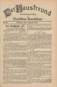 Der Hausfreund : Unterhaltungs-Beilage zur Deutschen Rundschau. 1929, Nr. 269 (27 November)
