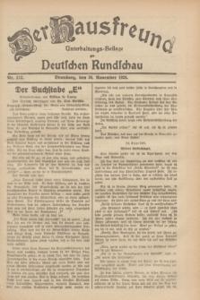 Der Hausfreund : Unterhaltungs-Beilage zur Deutschen Rundschau. 1929, Nr. 272 (30 November)