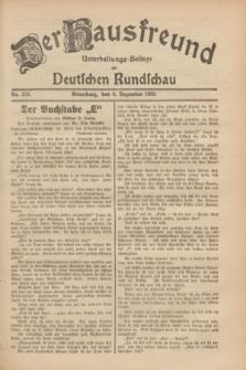 Der Hausfreund : Unterhaltungs-Beilage zur Deutschen Rundschau. 1929, Nr. 275 (6 Dezember)