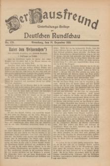 Der Hausfreund : Unterhaltungs-Beilage zur Deutschen Rundschau. 1929, Nr. 279 (10 Dezember)