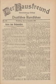 Der Hausfreund : Unterhaltungs-Beilage zur Deutschen Rundschau. 1929, Nr. 283 (14 Dezember)