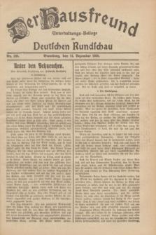 Der Hausfreund : Unterhaltungs-Beilage zur Deutschen Rundschau. 1929, Nr. 284 (15 Dezember)