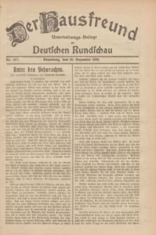 Der Hausfreund : Unterhaltungs-Beilage zur Deutschen Rundschau. 1929, Nr. 287 (20 Dezember)